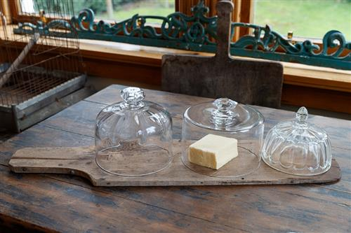 Glass French Cheese Bells/Cloches