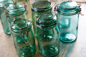 Green Glass French Preserving Jars