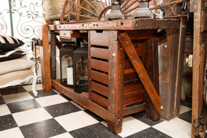 1930's French Carpenters Workbench