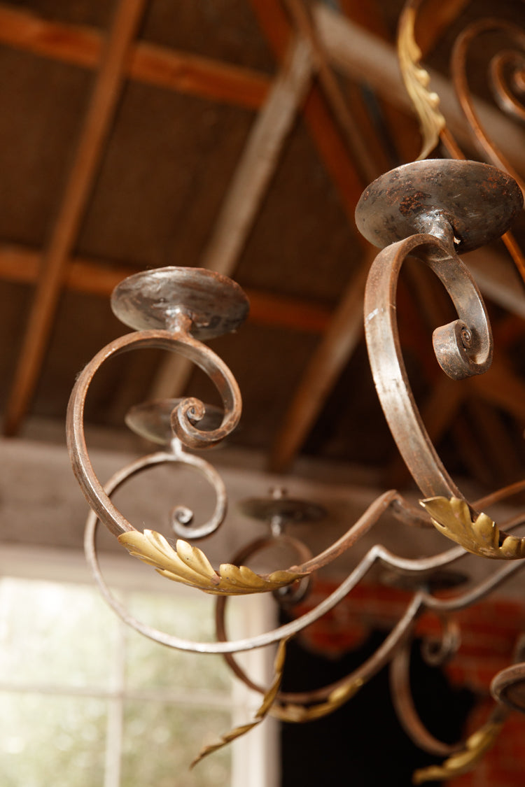 19th Century French Wrought Iron Candelabra