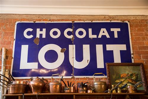 French Enamel Chocolate Sign