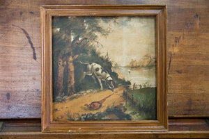 French Oil Pheasant & Dog