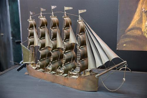 Handmade Copper Ship 'Remember'