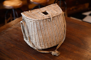 Vintage French Fishing Baskets