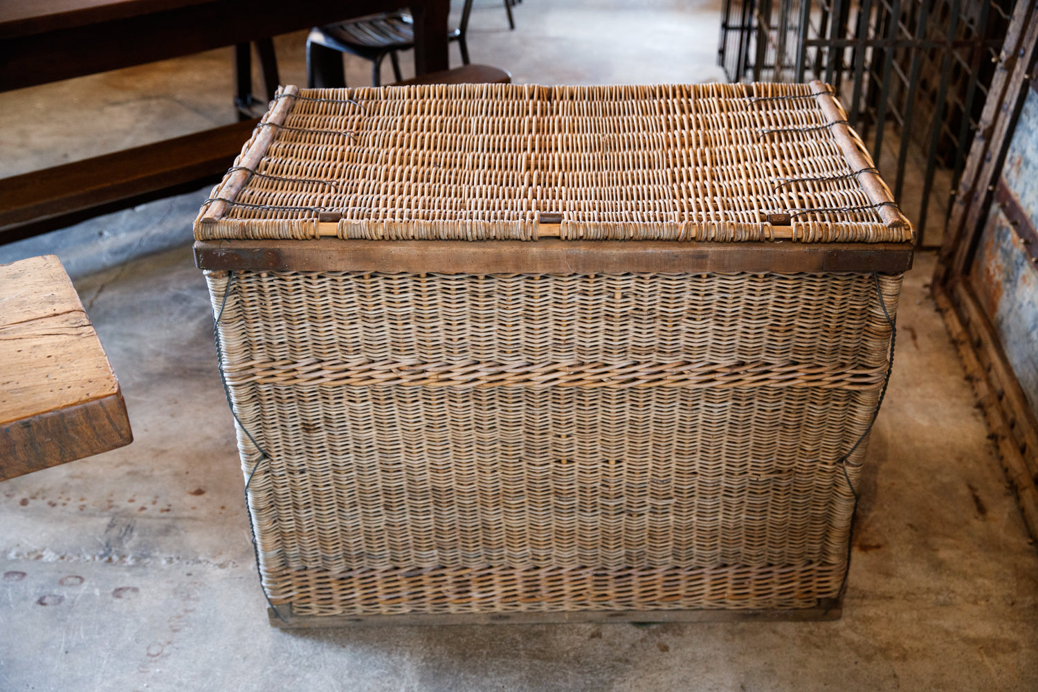 Beautiful Large 1930's French Trunk