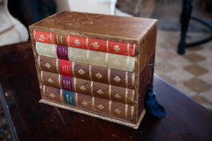 1940's French Leather Faux Book Box