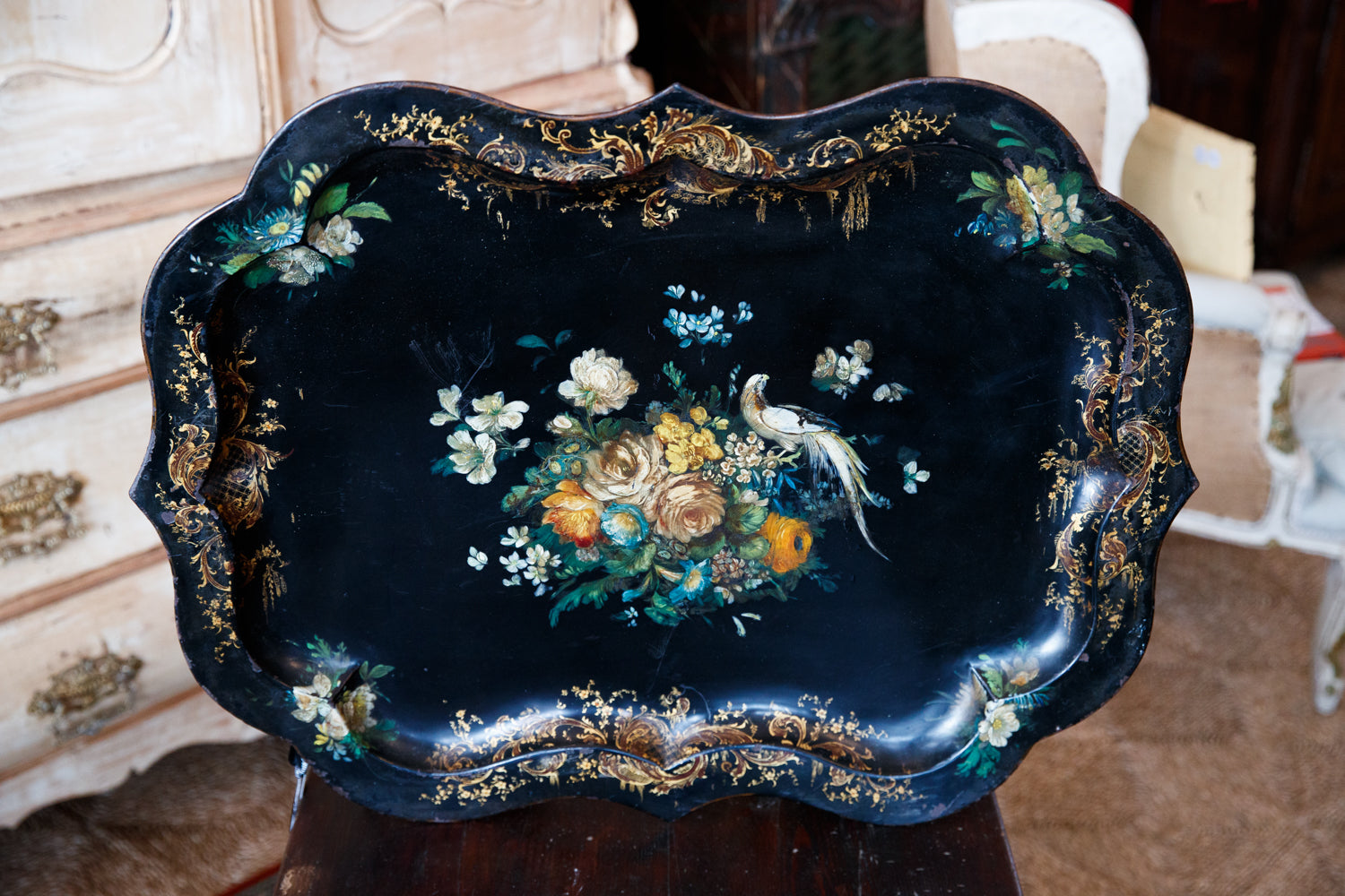 Hand Painted Metal Tray