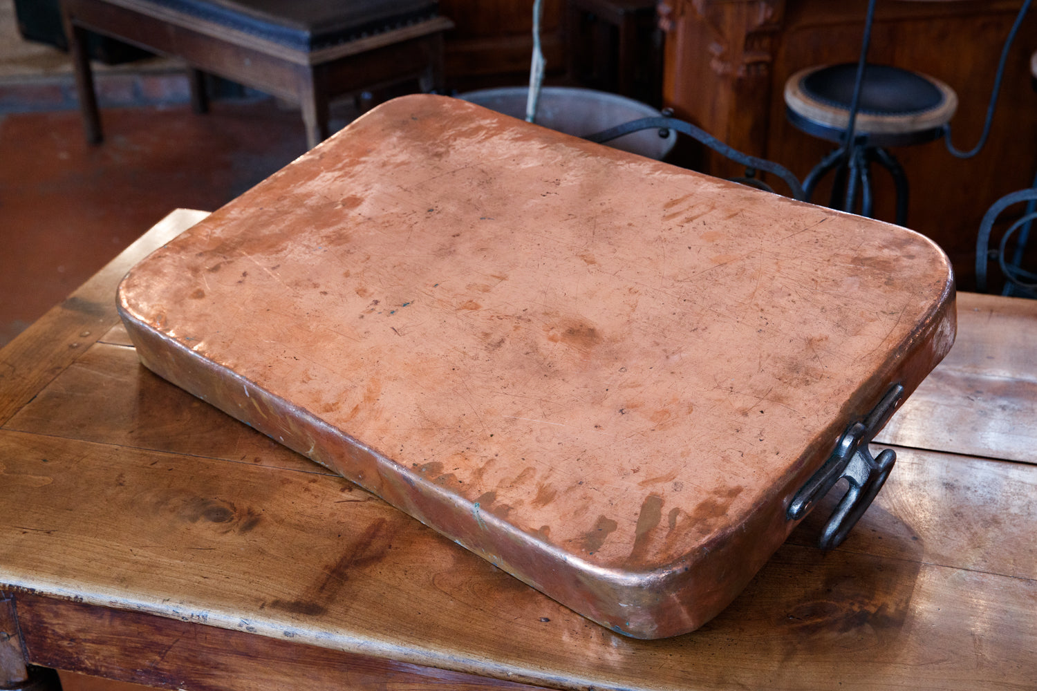 Large French Copper Roasting Pan