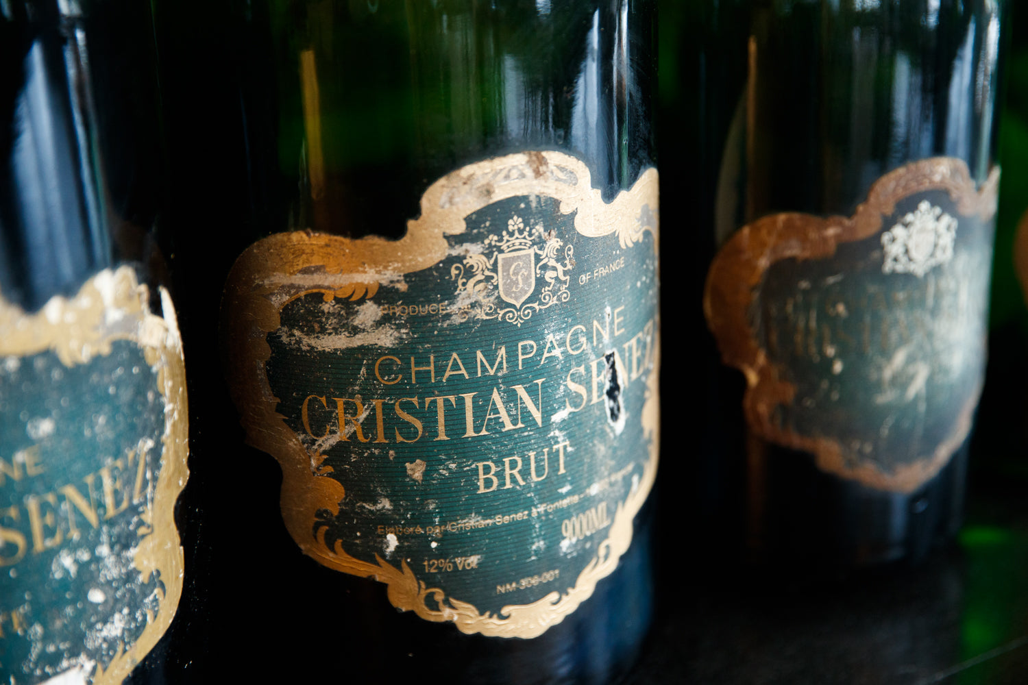19th Century French Champagne Bottle Collection