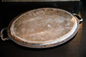 Beautiful Vintage French Silver Plate Tray
