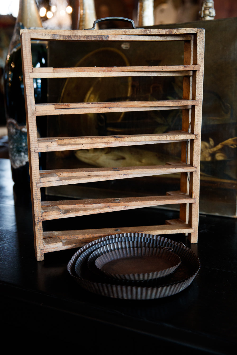French Wooden Tart Stand