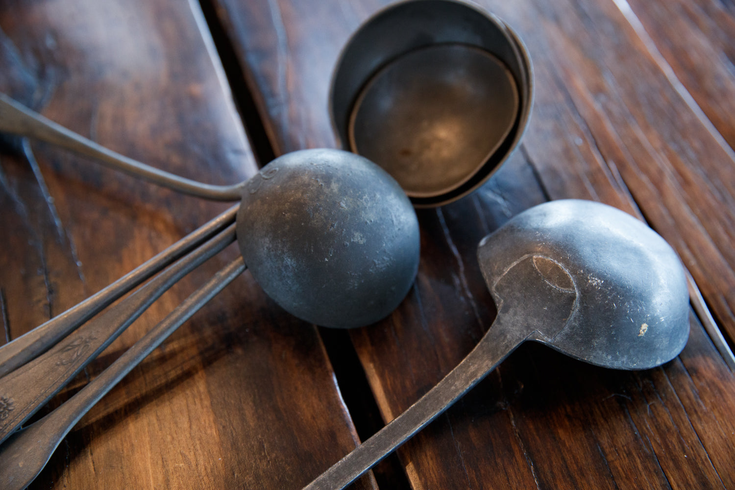 19th Century French Pewter Ladles