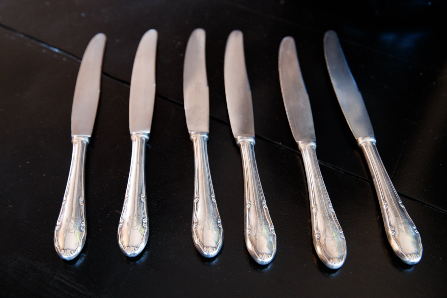 Vintage French Silver Plated Knives