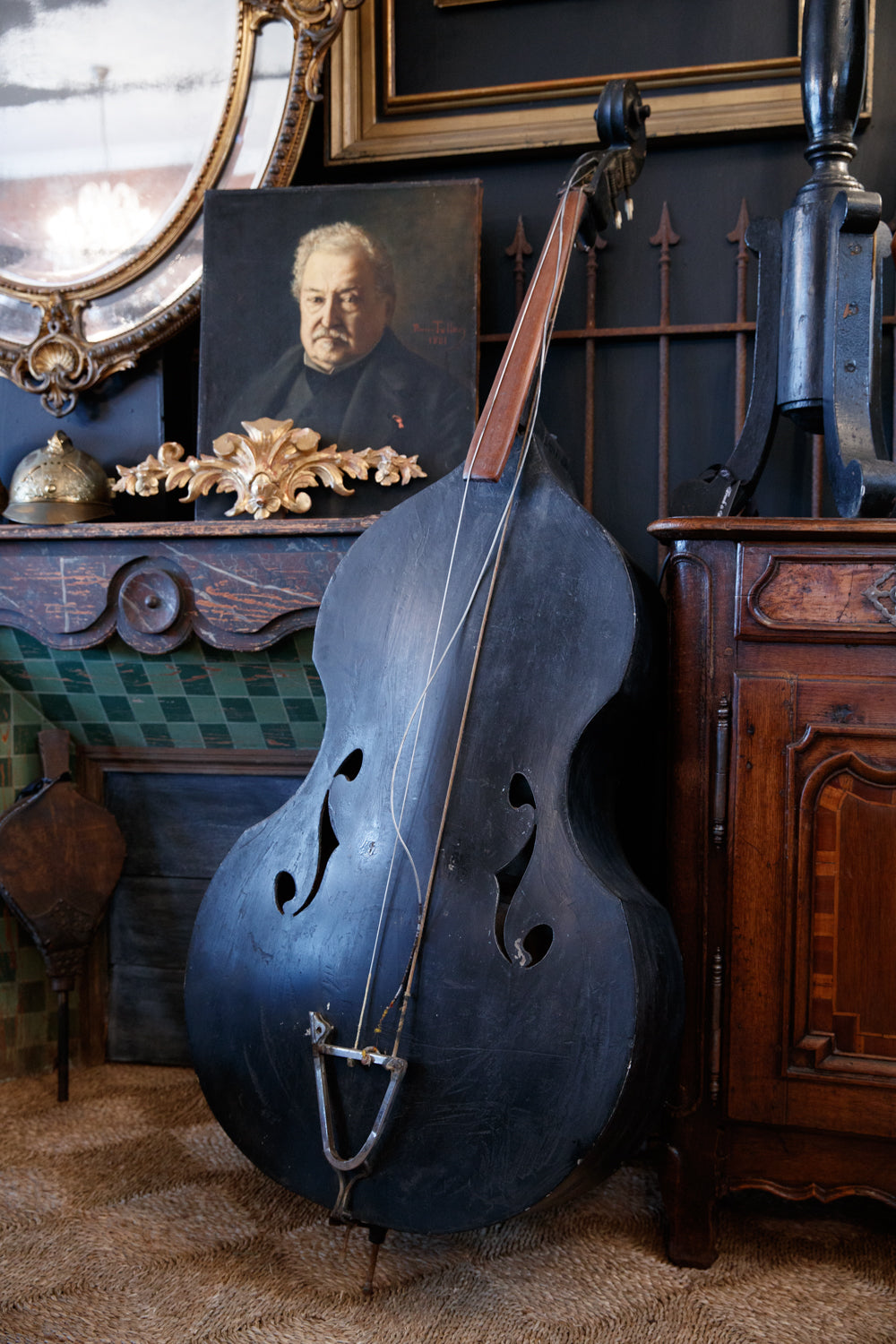Vintage French Double Bass Instrument