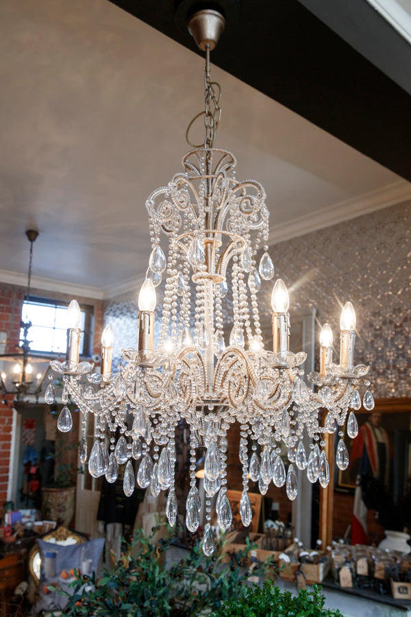 Contemporary Romantic Glass Chandelier