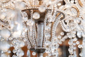 Romantic Contemporary Glass Chandelier