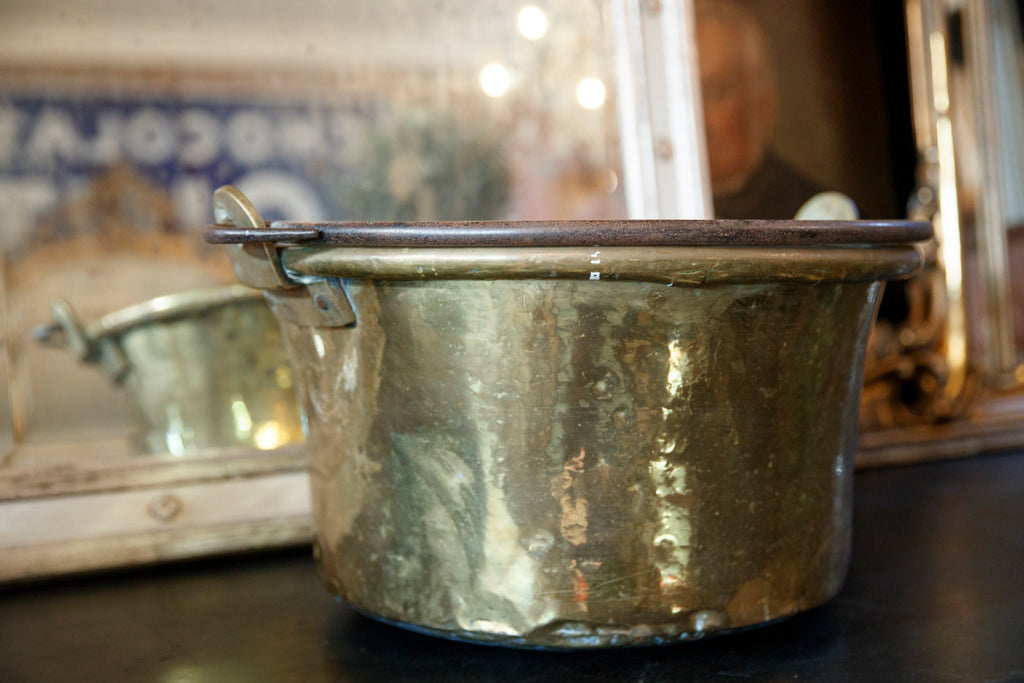 Large French Brass Pot