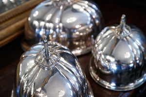 Vintage French Silver Plated Cloches
