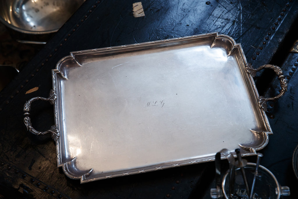 French Silver Plated Tray
