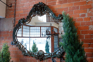 Large Carved Italian Wooden Mirror