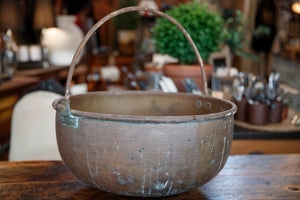 French Brass Cauldron