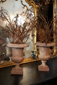 French 19th Century Cast Iron Urns