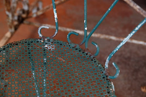 French Green Iron Garden Chairs