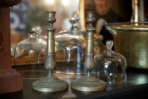 French Brass Candlesticks