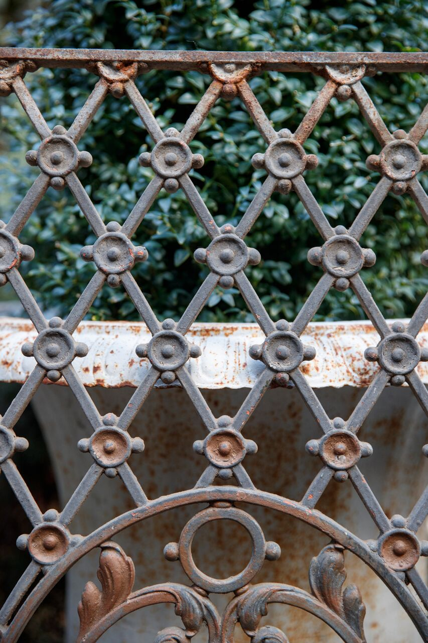 French Wrought Iron Grill - No 11