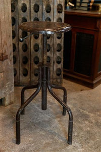 1930's French Industrial Stool