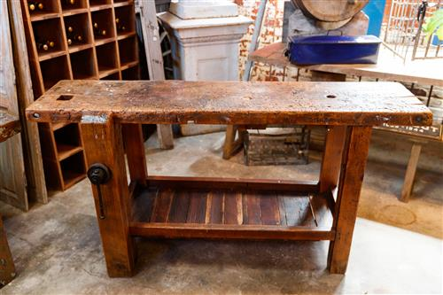 French Workbench with Wire Spindle