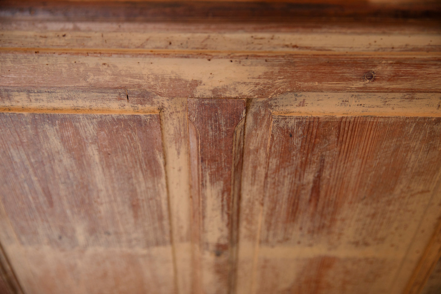 Original French Pine Shop Counter