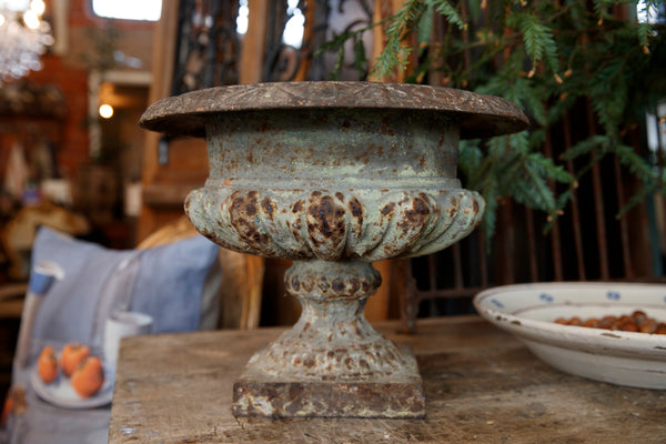 19th Century French Urn - Sage Patina