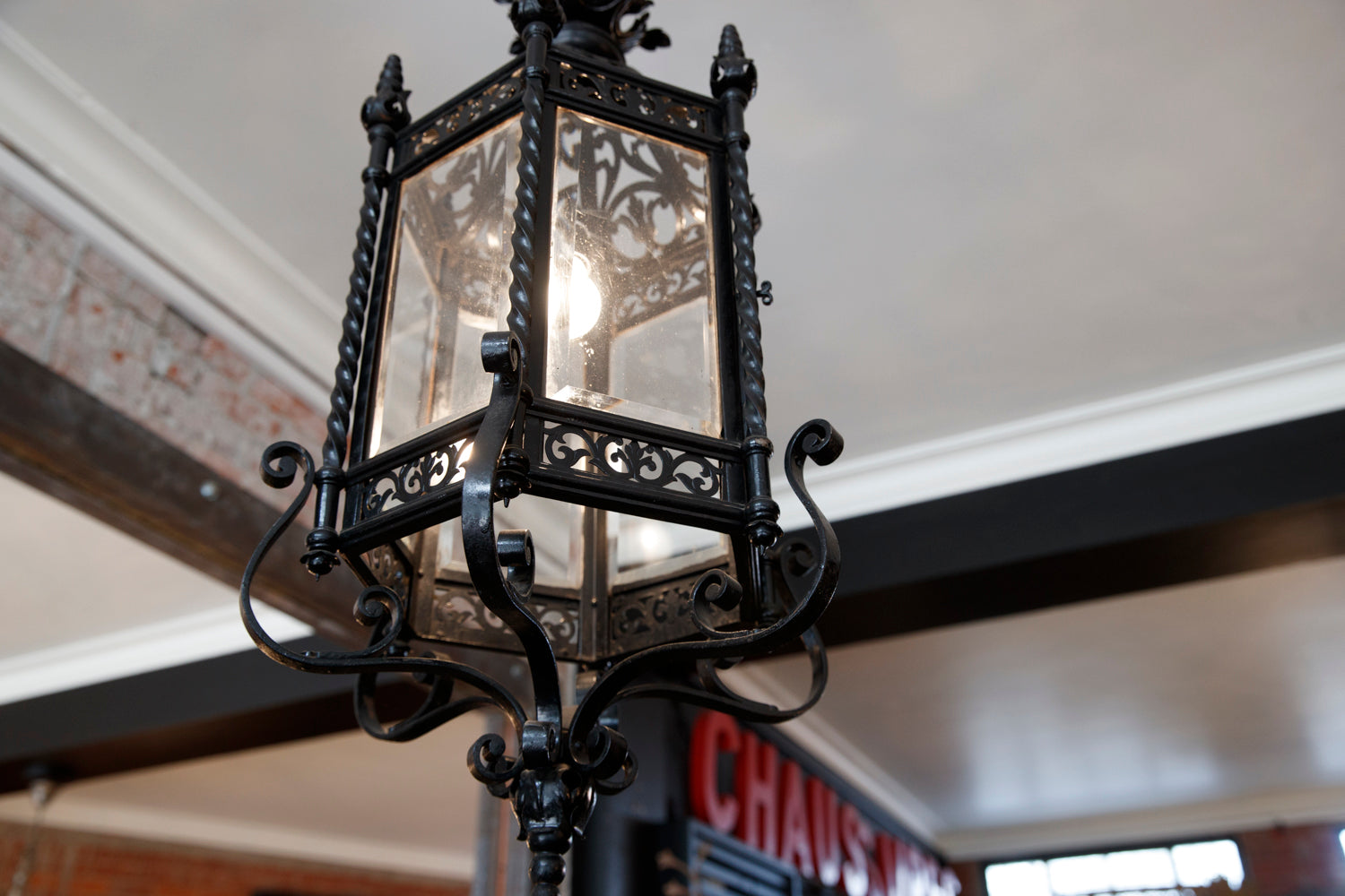 French Wrought Iron Lantern