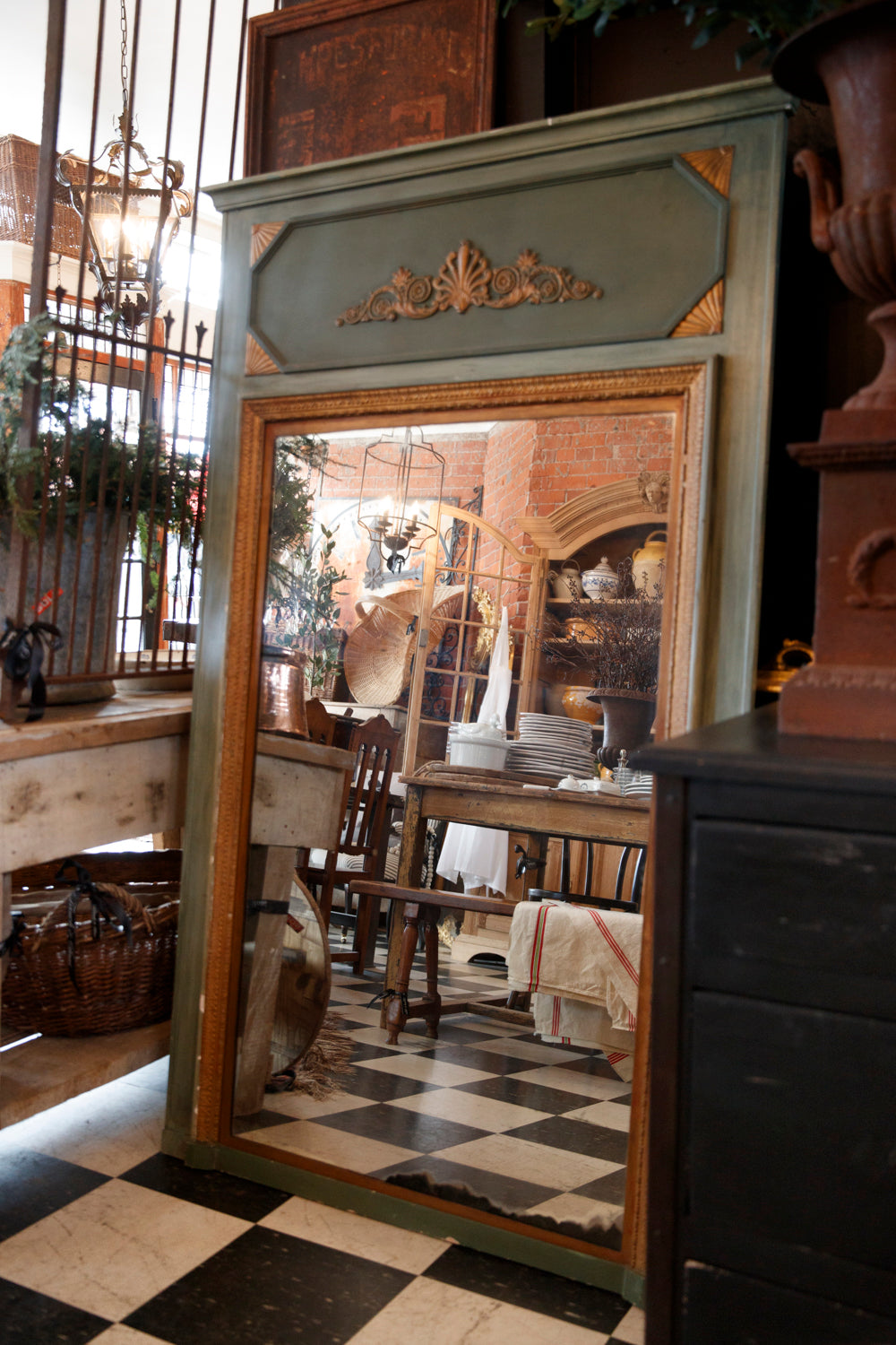 Beautiful French 1890's Wood & Gold Gilt Mirror