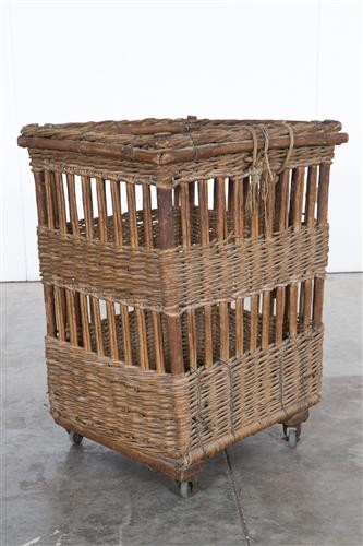 French Baguette Basket on Wheels (1900)