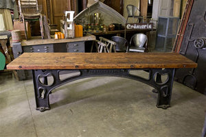 French Industrial Console Table