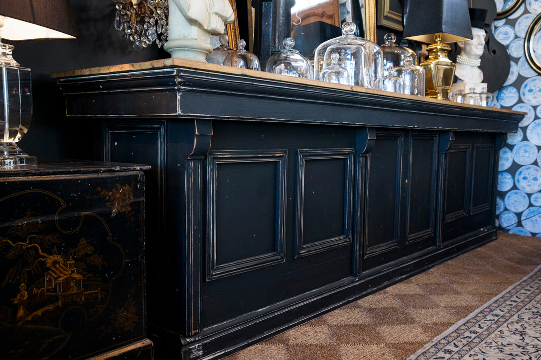 Huge French Black Bistro Bar
