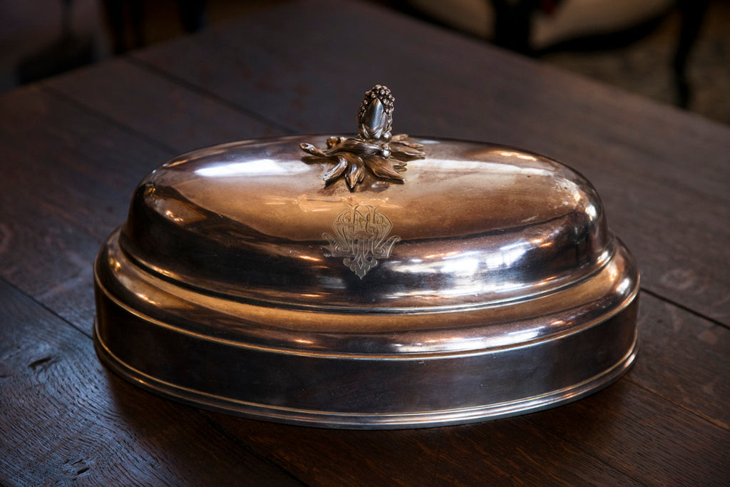 19th Century French Silver Plated Cloche