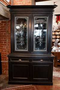 1920's French Bistro Dresser - Etched Glass Doors