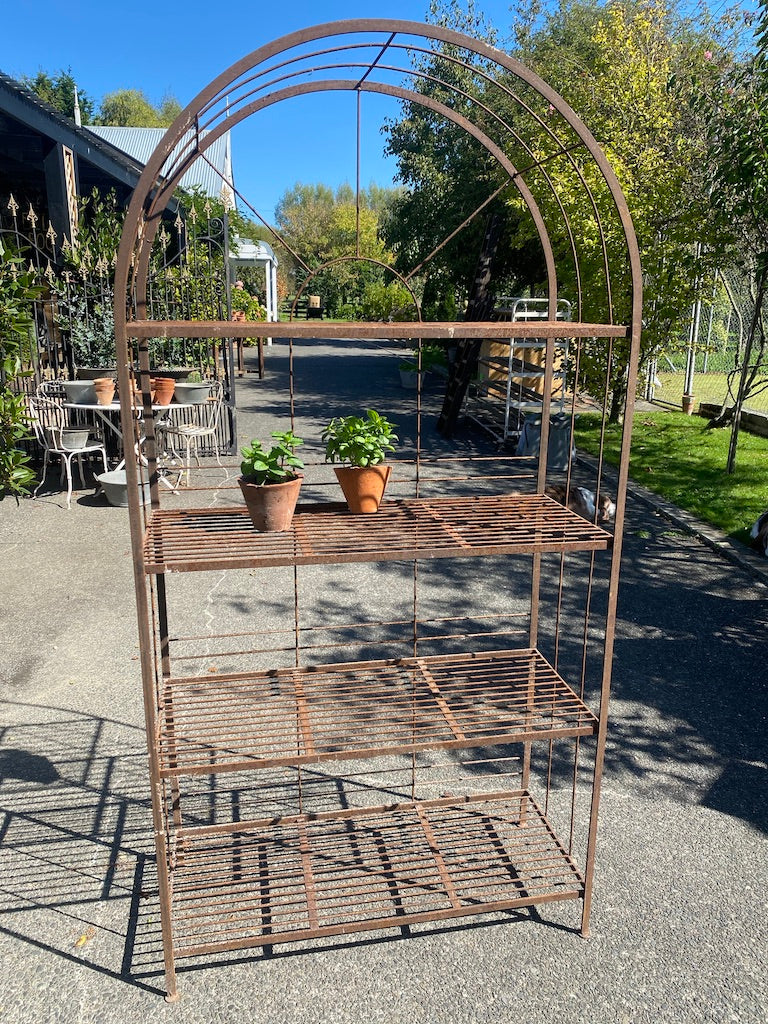 French Iron Garden Shelf