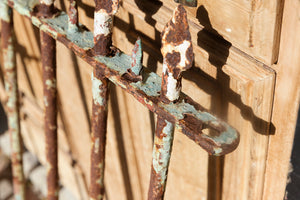 Sweet French Wrought Iron Gate - Green Patina