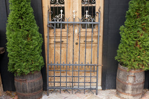19th Century French Antique Wrought Iron Gate - No 23