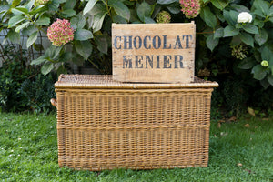 Antique Wooden French Chocolate Menier Crate