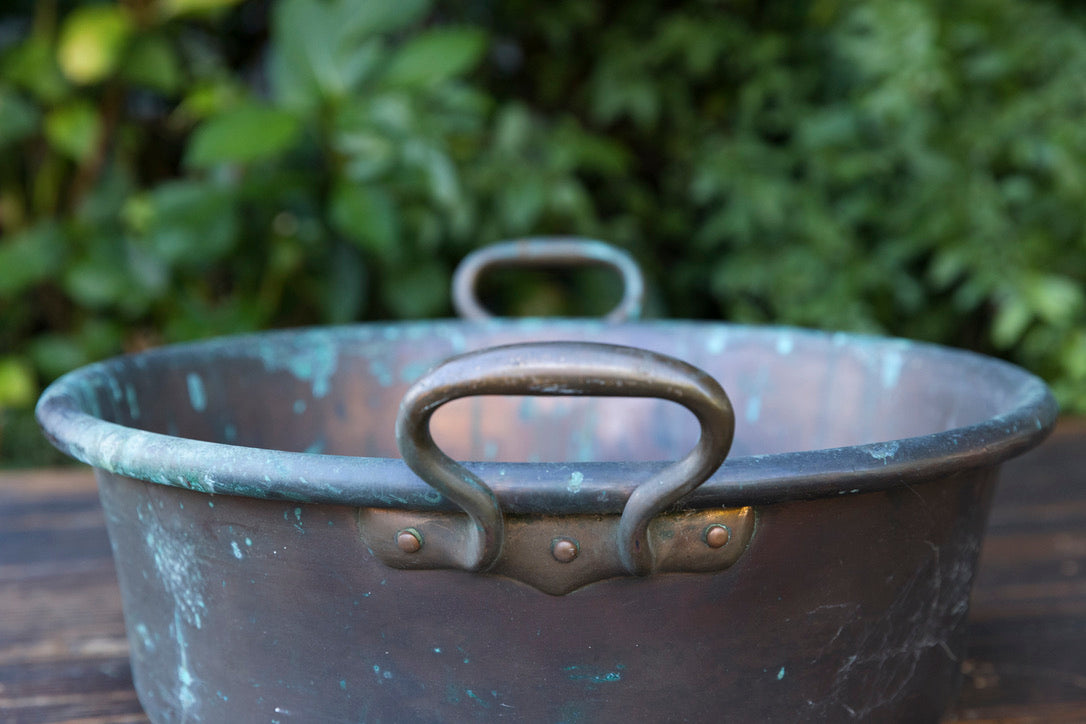 Vintage French Copper - Green Patina