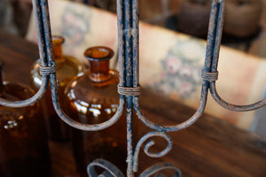 Vintage French Wrought Iron Candelabras