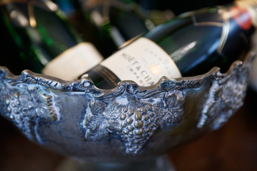 19th Century French Champagne Bucket - Grape Detail