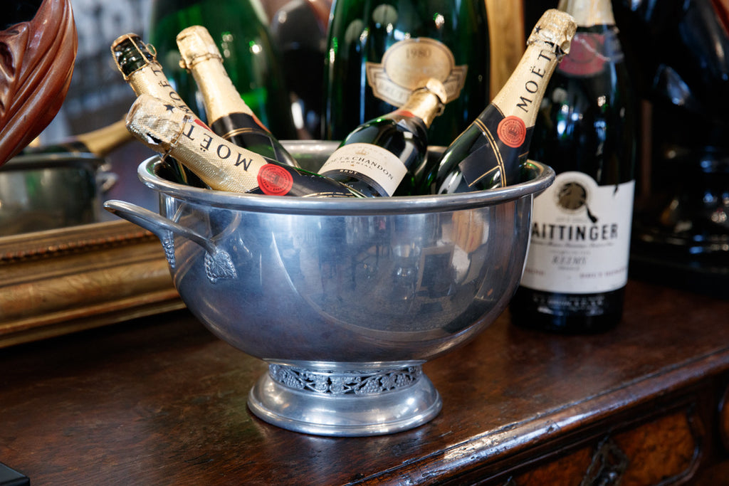 Large French Pewter Champagne Bucket