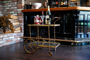 Original French Brass Drinks Trolley