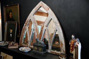 French Arched Chapel Window Mirror